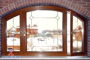 арочные окна с двумя открывающимися створками