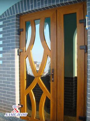 Нестандартные двери ПВХ входные