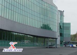 алюминиевые конструкции фасада ТЦ ХАМЕЛЕОН