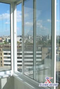 алюминиевые окна при остеклении балкона