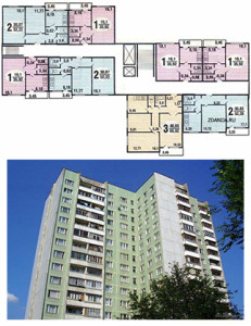 Окна дома п 43 и планировка квартир