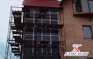 Монтаж алюминиевых конструкций фасадов зданий
