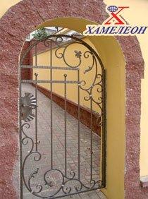 Ворота откатные и калитки металлические кованные