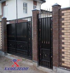 Ворота откатные и калитки металлические сварные